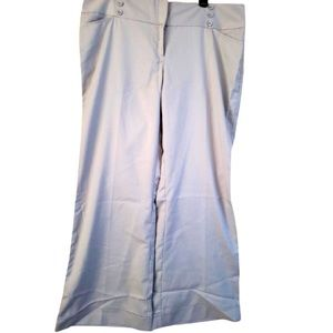Charolette Russe Sz 16 Beige Pants Wide Flair Out